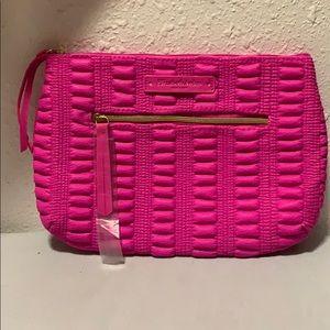 NWT Elizabeth Arden hot pink cosmetics bag
